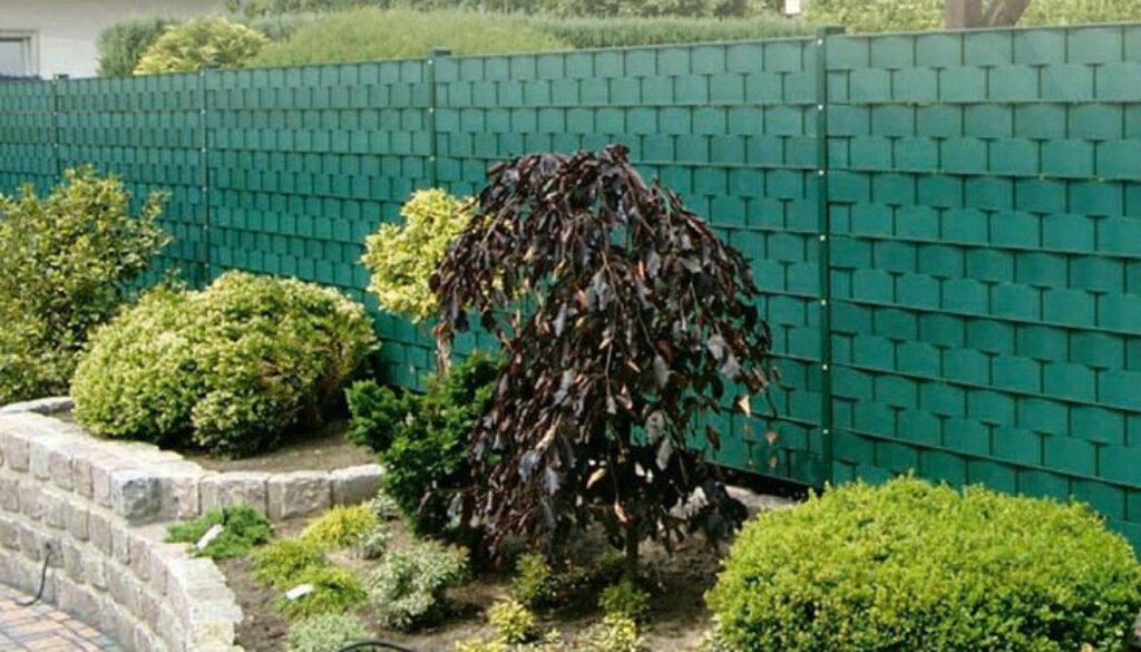 Sichtschutzwand-grün